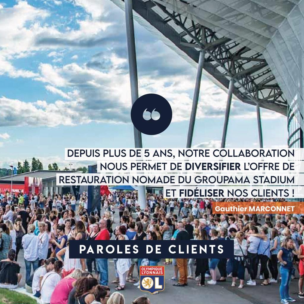 Olympique Lyonnais - Parole de Clients - Nomad Kitchens